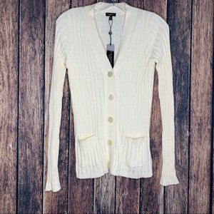 NWT Talbots cardigan cream long sleeves small